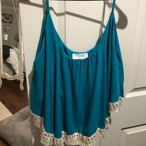 Tops - Boutique brand top with fringe